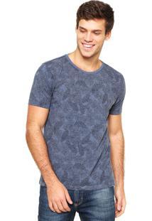 Camiseta Aramis Regular Fit Estampada Azul
