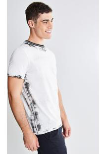 Camiseta Com Detalhe Em Ribana