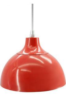 Pendente Em Alumínio Vermelho 19,5Cm Jour Skylux