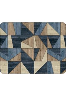 Tapete Wall Tiles- Azul Marinho & Marrom- 125X90Cm
