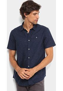 Camisa Foxton Manga Curta Estampada Masculina - Masculino