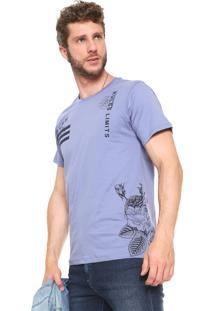 Camiseta Fiveblu Rules Floral Roxa