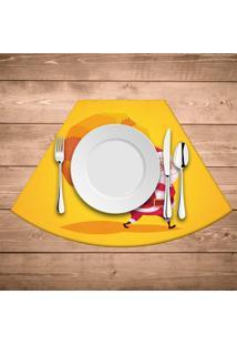 Jogo Americano Para Mesa Redonda Wevans Cute Noel Yellow