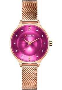 Relógio Curren Analógico C9036L Feminino - Feminino-Rose Gold