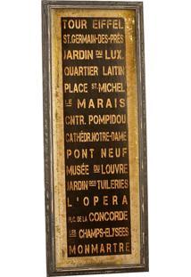 Quadro Decorativo Vintage De Parede Tour Paris