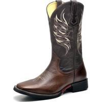 Bota Couro Country Texana Top Franca Shoes Masculino - Masculino-Marrom 01f065eb3cb