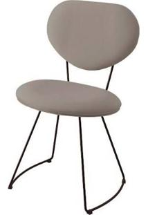 Cadeira Pimpom Cinza Base Curve Preta 51Cm - 62061 - Sun House
