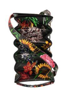 Y/Project Bolsa Com Estampa Floral Accordion - Preto