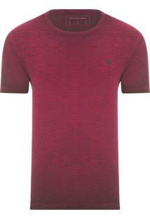 Camiseta Masculina Estampa Logo - Vermelho