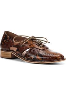 2948560b2 ... Oxford Couro Shoestock Wild Snake Feminino - Feminino-Caramelo
