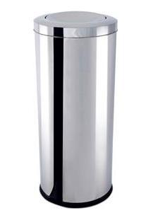 Lixeira Brinox Com Tampa Basculante Decorline Em Aço Inox - 47 L