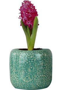 Vaso Flowers Urban Verde De Cerâmica Urban Home