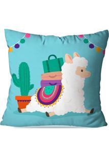 Capa De Almofada Avulsa Decorativa Cute Alpaca 45X45Cm