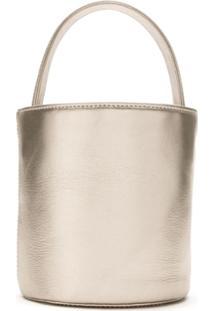 Sarah Chofakian Bolsa Mini Bucket Em Couro - Dourado