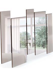 Espelho Decorativo Isadora 136 X 120 Castanho