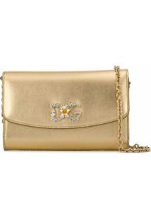 Dolce & Gabbana Bolsa Transversal Dg Microbag - Dourado