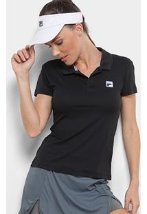 baa76da60ed34 Camisa Pólo Preta feminina