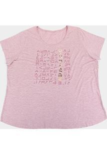 Camiseta Plus Size Live! Icon Lux Feminina - Feminino