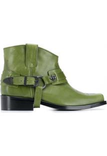 Toga Virilis Ankle Boot De Bico Quadrado - Verde