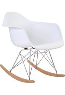 Cadeira Eiffel Com Braço E Pés De Balanço Branca