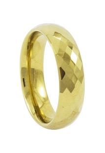 Aliança De Tungstênio New Tungsten 6Mm Briolet Gold - Unissex