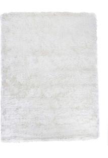 Tapete Peludo Gold Cor 15 Branco 1,50X2,00M - Edantex Branco