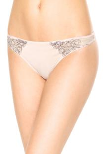 Calcinha Calvin Klein Underwear Fio Dental Tule Rosa