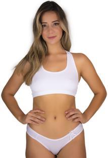Sutiã Top Rb Moda Nadador Branco