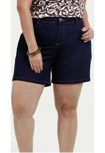 c36c63de5 Marisa. Bermuda Feminina Jeans Stretch Plus Size Marisa