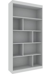 Conjunto Home Office Com Escrivaninha Multifuncional E Estante Para Livros Móveis Branco Tx/Branco Tx