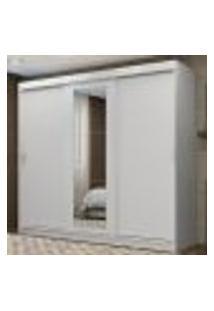 Guarda-Roupa Casal Madesa Kansas 3 Portas De Correr Com Espelho 3 Gavetas