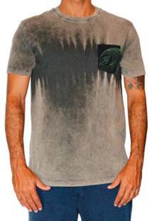 Camiseta Mormaii Tye Die Stripe Masculino - Masculino-Bege+Verde