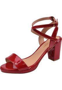 Sandália Rosa Chic Calçados Scarlet Vermelha