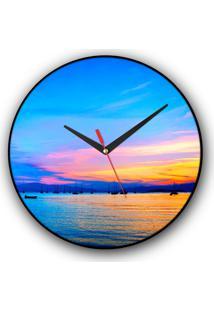 Relógio De Parede Colours Creative Photo Decor Decorativo, Criativo E Diferente - Vista Panorâmica De Florianópolis