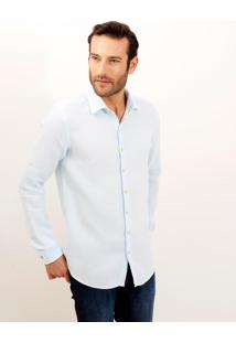 Camisa Dudalina Manga Longa Puro Linho Tinturado Masculina (Branco, 4)