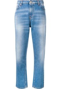 Ps Paul Smith Calça Jeans Reta - Azul