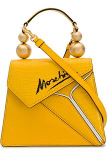 Moschino Bolsa Tote Slice - Amarelo