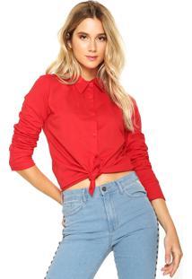 Camisa Fiveblu Botões Vermelha