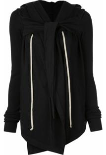 Rick Owens Drkshdw Larry Hooded Wrap Jacket - Preto