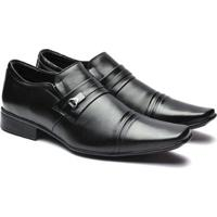 45f2f2e09 Sapato Social Jota Pe Pelica Detalhe Frisos Masculino - Masculino-Preto