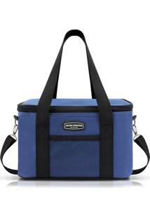 Bolsa Térmica Tam. G Lisa Retangular Jacki Design Urbano Azul