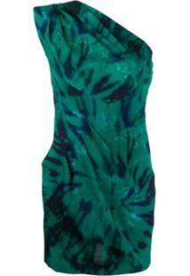 Dsquared2 One Shoulder Mini Dress - Verde