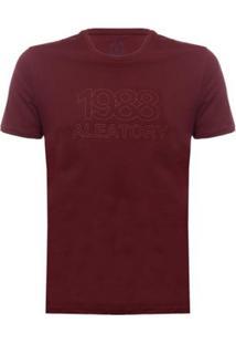 Camiseta 1988 Aleatory Masculina - Masculino-Bordô