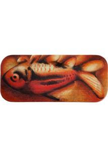 """Fornasetti Bandeja Laranja Modelo """"Orange Fish"""". - Vermelho"""