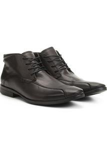 Sapato Social Couro Ferracini Dimitri - Masculino-Preto