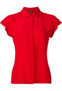 Emporio Armani Blusa Mangas Curtas - Vermelho