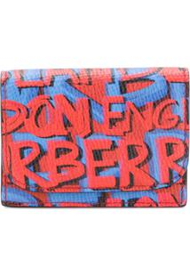 Burberry Carteira 'Graffiti' De Couro - Azul
