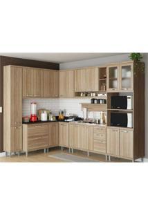 Cozinha Completa Multimóveis Com 9 Peças Sicília 5802 Argila/Argila