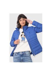 Jaqueta Puffer Polo Ralph Lauren Logo Azul