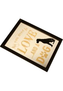 Quadro Decorativo Com Moldura Love And Dog - Unissex